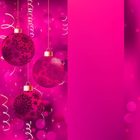 trumpery: Background with stars and Christmas balls   Illustration