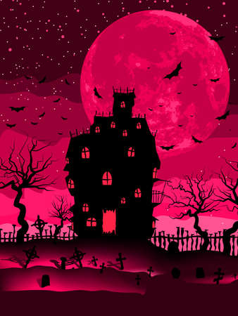 Scary halloween with magical abbey file included Stock Vector - 13464733