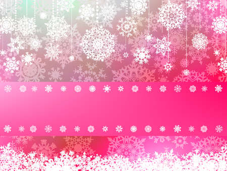Pink christmas background with christmas snowflake  EPS 8 vector file included  Vector