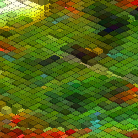 Abstract 3d colorful mosaic background file included Vector