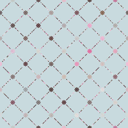 Pink brown colorful seamless pattern file included Vector