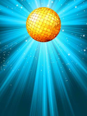 Sparkling blue disco ball Stock Vector - 13553291