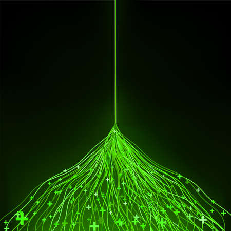 ambiguity: Green abstract composition of delicate lines  EPS 8 vector file included Illustration