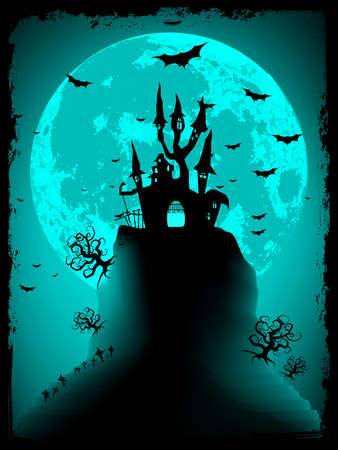Scary halloween vector with magical abbey Stock Vector - 13662169
