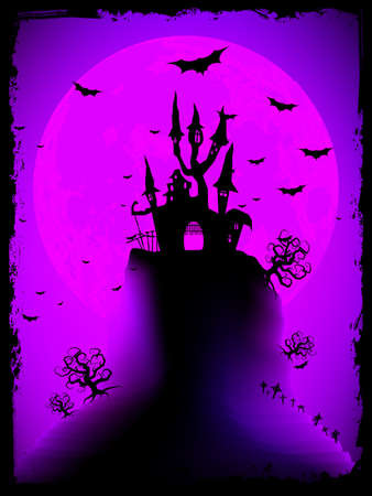Scary halloween with magical abbey Stock Vector - 13679511