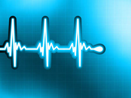 Heart cardiogram with shadow on it deep blue Stock Vector - 13803968