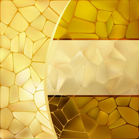 Gold mosaic background template  Vector
