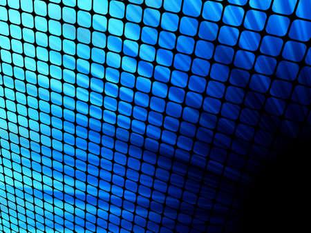 Blue rays light 3D mosaic   Vector