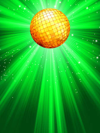 Sparkling green disco ball Vector