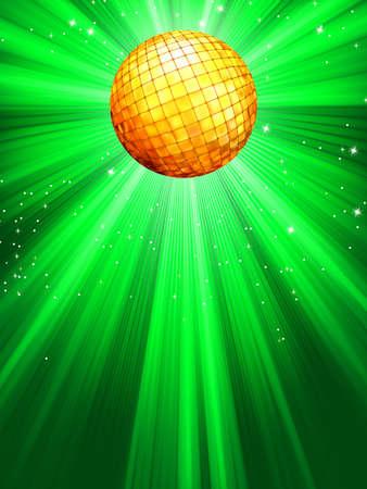 Sparkling green disco ball Stock Vector - 13905549