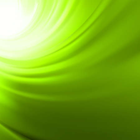 Abstract glow Twist background with green flow   Vector