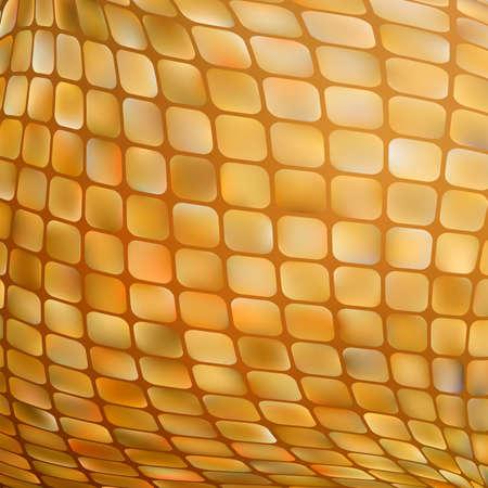 building block: Golden business mosaic