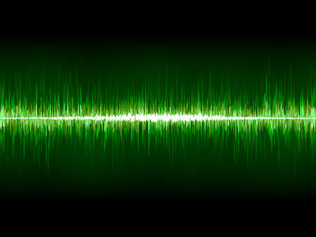 wavelength: Agudo fresco de forma de onda verde