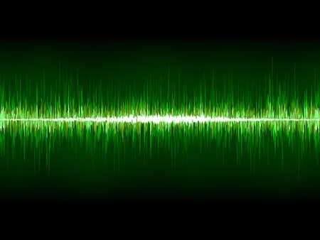wavelength: Sharp cool green waveform