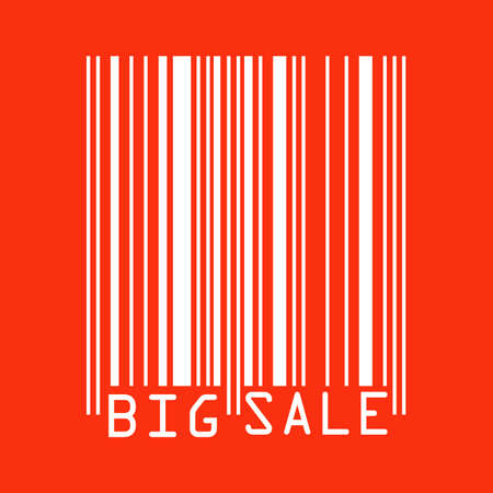 Big Sale red bar codes  all data is fictional   EPS 8 vector file included Stock Vector - 14014648