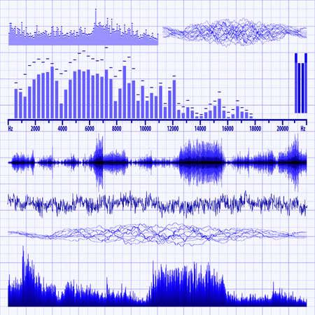 geluidsgolven: Geluidsgolven ingesteld Muziek achtergrond