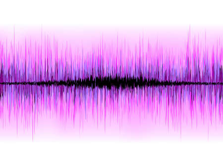 vibrations: Sound waves oscillating on white background.  Illustration