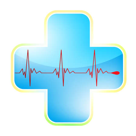 Heart medical cross  Vector