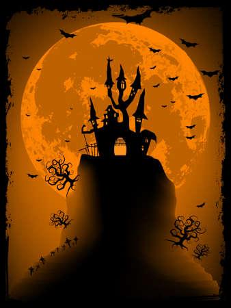 obscure: Scary Halloween con vectores EPS m�gica abad�a de 8 archivo vectorial incluye