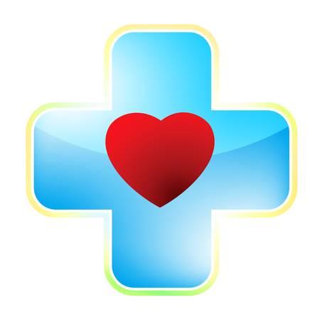 cruz roja: Coraz�n m�dica archivo cruz incluida