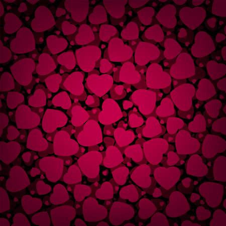 Red Valentine s day background with hearts file included photo