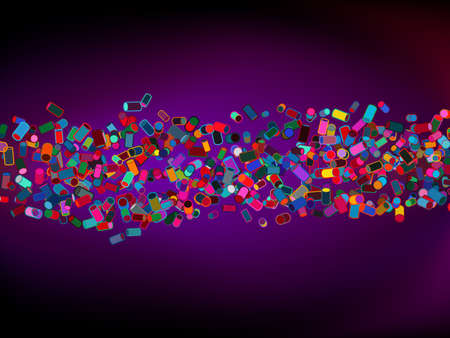 Abstract colorful cylinder background file included Vector