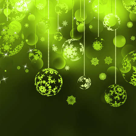 green bow: Christmas background with baubles file included