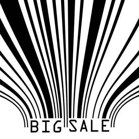 Big Sale bar codes all data is fictional Stock Vector - 14302935