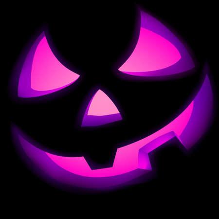 Jack O Lantern pumpkin illuminated green  EPS 8 vector file included Stock Vector - 14348665