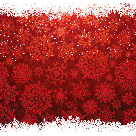 Beautiful red happy Christmas card,winter holiday background  EPS 8 vector file included  Vector