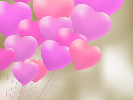 copula: Copula of red gel balloons in the shape of a heart file included
