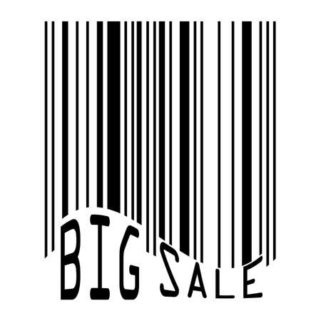 computerized: Big Sale bar codes all data is fictional   file included Illustration