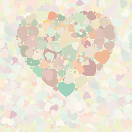 Abstract vintage heart background  file included Vector