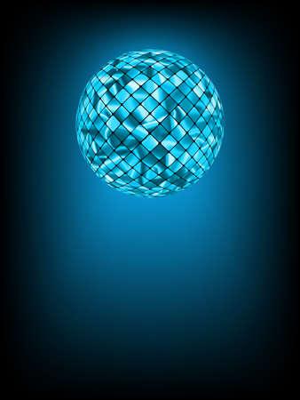 Mirror Ball: Disco ball with glow in haze