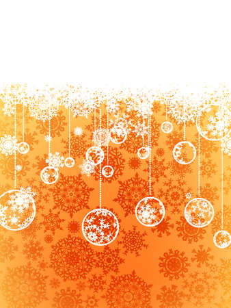 Beige christmas background with christmas snowflake Stock Vector - 14531621