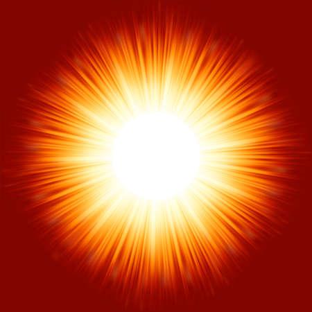milagre: Fundo brilhante com raios na cor laranja arquivo do EPS 8 do vetor incluído