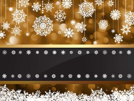golden frames: Gold elegant christmas background file included