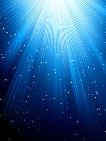estrellas: Estrellas en el patr�n de fondo azul con rayas navide�o ideal para el archivo de invierno o de Navidad EPS vector de ocho temas incluidos