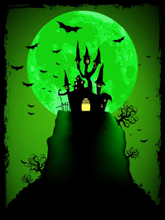 Scary halloween vector with magical abbey  EPS 8 vector file included Stock Vector - 14736177
