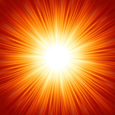 스타 버스트 빨간색과 노란색 불이 포함 된 8 벡터 EPS 파일 일러스트