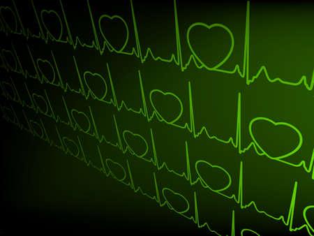 Abstract heart beats cardiogram Stock Vector - 14813232