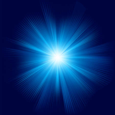 A Blue color design with a burst  Stock Vector - 14813238