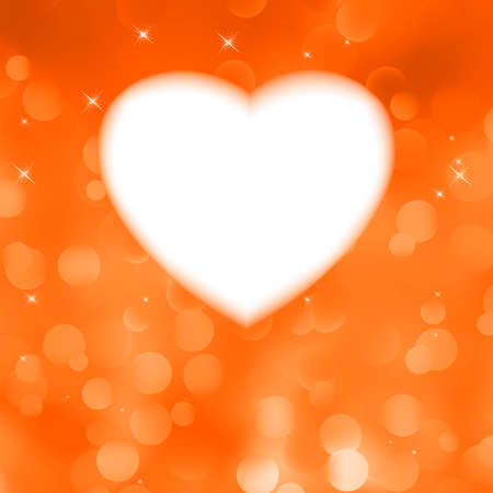 Orange bokeh valentine card romantic background with stars  EPS 8 vector file included Vector