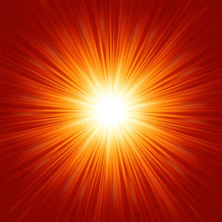 blast: Star burst red and yellow fire