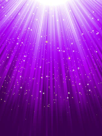 Stars on purple striped background  Festive pattern great for winter or christmas themes Vector
