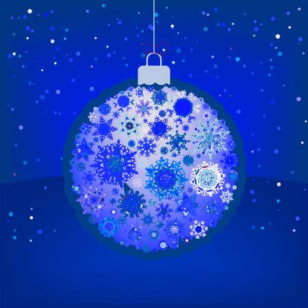 Christmas ball in retro style Vector
