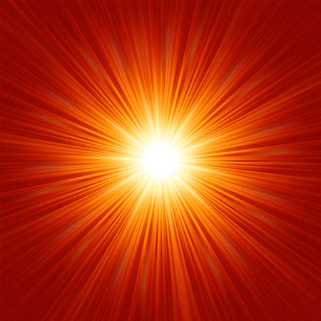 Star burst red and yellow fire   Stock Vector - 14990265