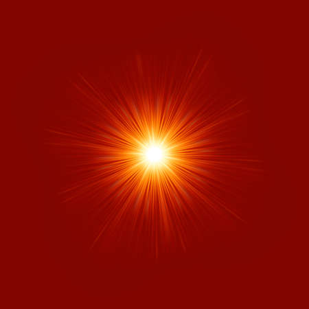 flares: Star burst red and yellow fire