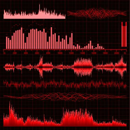 Sound waves set  Music background  EPS 8 vector file included