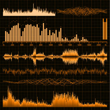 Les ondes sonores set EPS fond de musique 8 vector file inclus